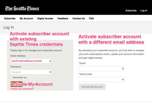 Alternative subscriber activation