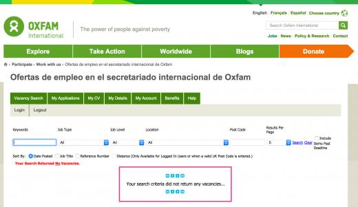Oxfam vacancy link