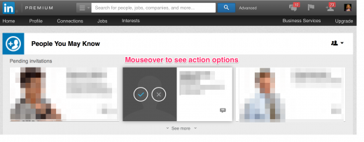 LinkedIn Connection Actions