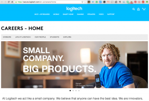 Logitech Careers page