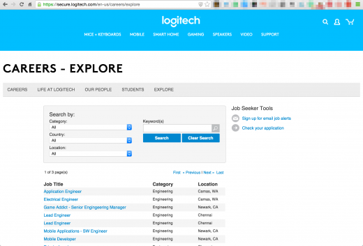 Logitech Explore jobs