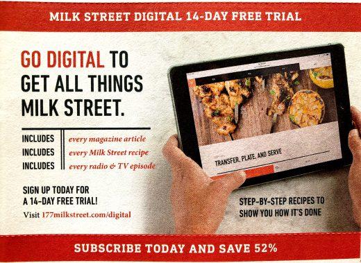 milk street digital subscription